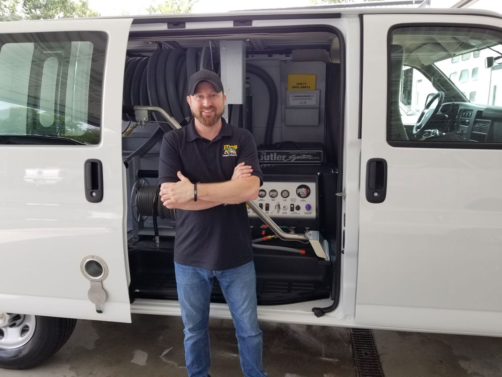 Jdog Veteran Carpet Cleaning Mt Laurel Nj Takes Delivery Of New Butler Systems And Van The Butler Corporation