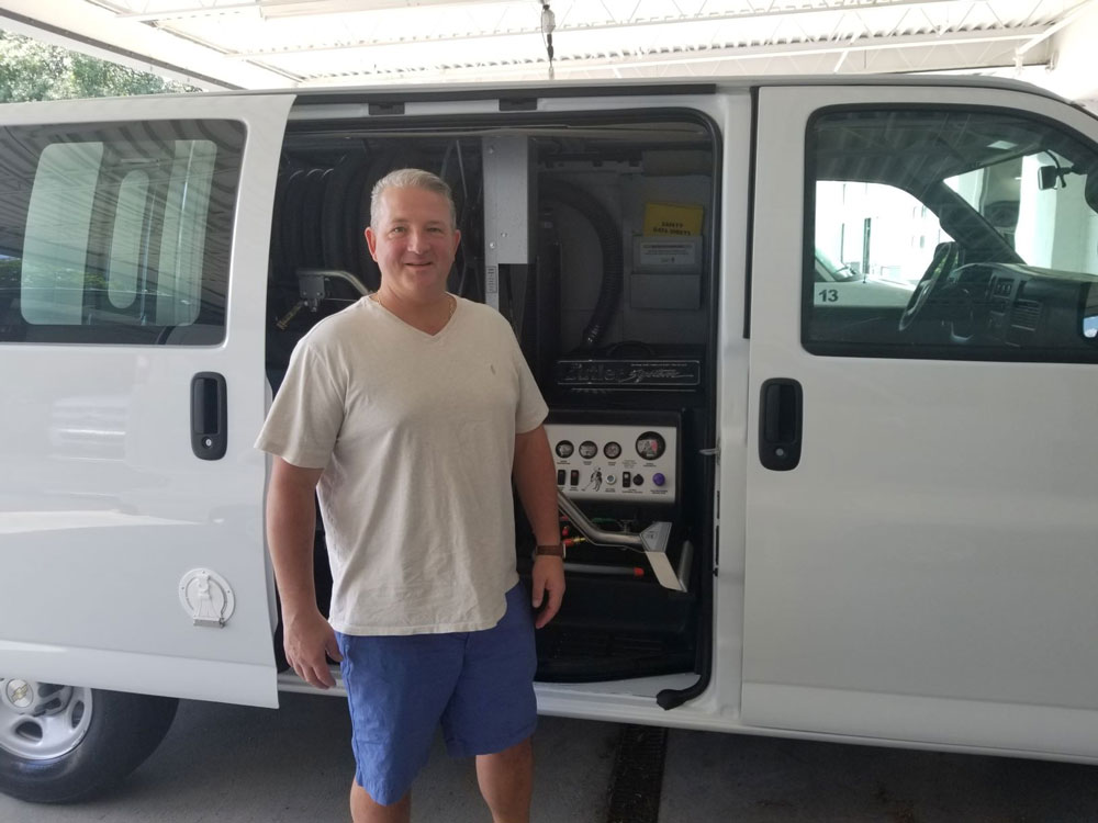 Ray Ladebush, Professional Commercial Cleaning ,Dover, New Hampshire purchases Butler Carpet Cleaning Machine