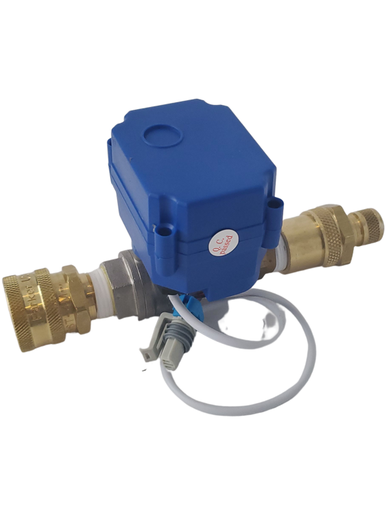 Butler System Motorized Auto Fill Valve Complete with Fittings for Automatic Water Fill Shut Off