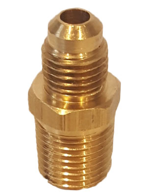 "1/4"" Brass MPT X 3/8"" JIC  Connector Fitting"