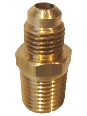 "1/4"" Brass X 1/4"" JIC Fitting Connector"