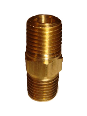 "1/4"" Brass Hose Barb  MPT X 1/4"" Hose Connector"