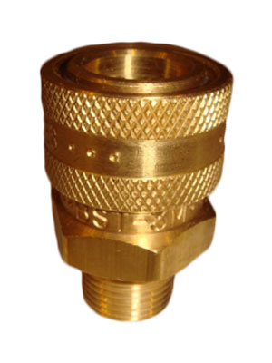 "3/8"" Brass Female Free Flow Quick Connect"