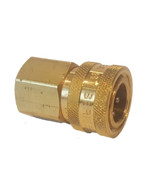"1/2"" Brass Female Free Flow Quick Connect for Unloader By-Pass Hose"