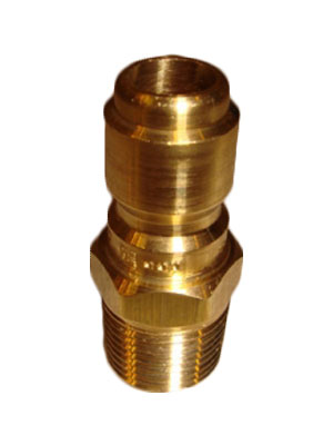 "3/8"" Brass Male Free Flow Quick Connect"