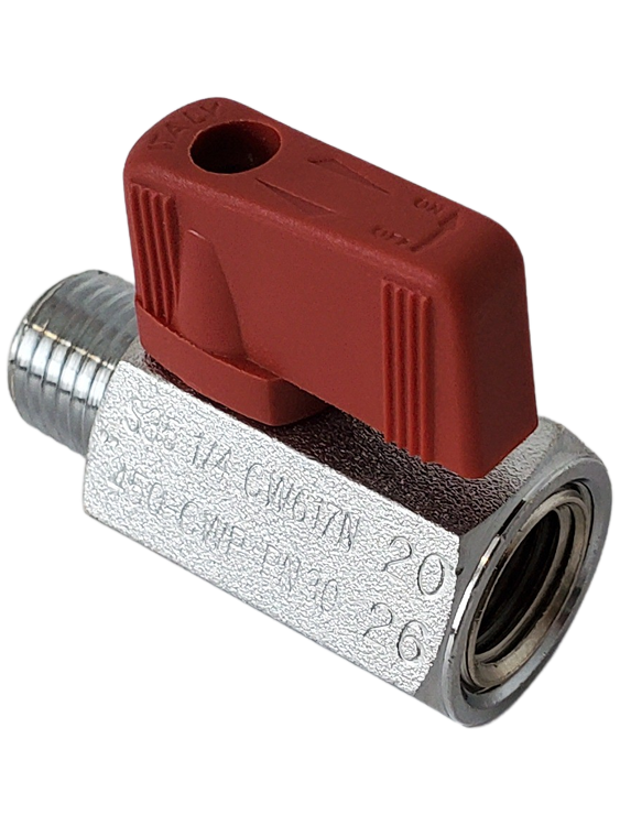 Red Handle Shut of for Valve for Detergent Injection System #4220